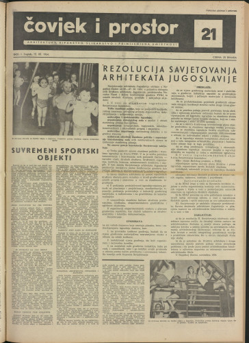 Čovjek i prostor 1954 / 21