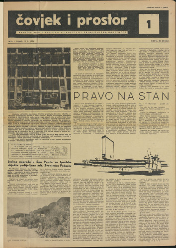 Čovjek i prostor 1954 / 1
