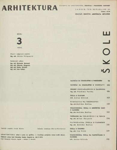 Arhitektura 1954 / 3